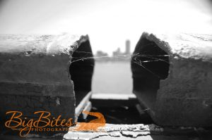 Broken-Bridge-b-and-w-Boston-with-City-in-background-Big-Bites-Photography.jpg